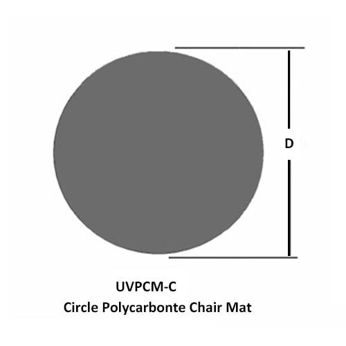 Kreis Polycarbonat Stuhlunterlage