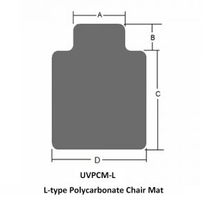L-typ Polycarbonat Stuhlunterlage