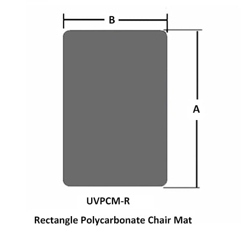 Rechteckige Polycarbonat Stuhlunterlage