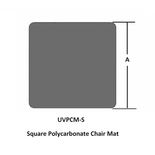 quadratische Polycarbonat Stuhlunterlage