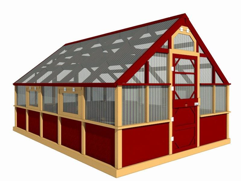 Polycarbonat Mini-Gewächshaus