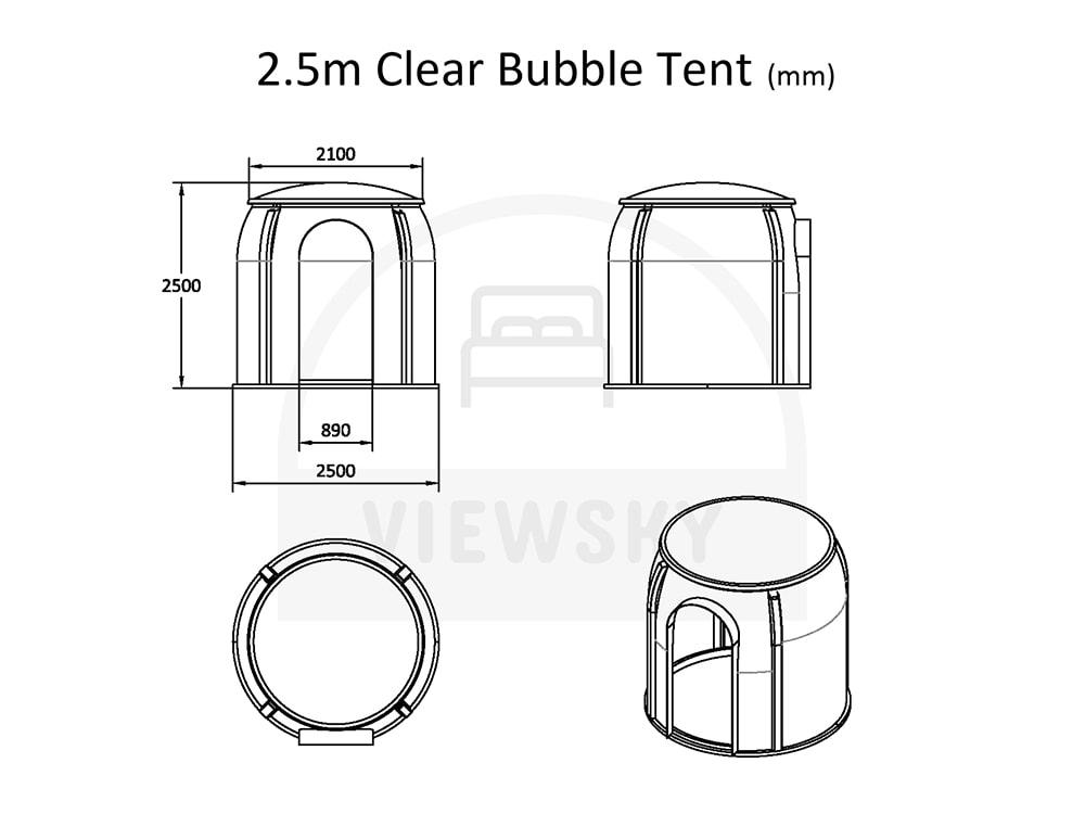 VIEWSKY Klares Bubble Zelt