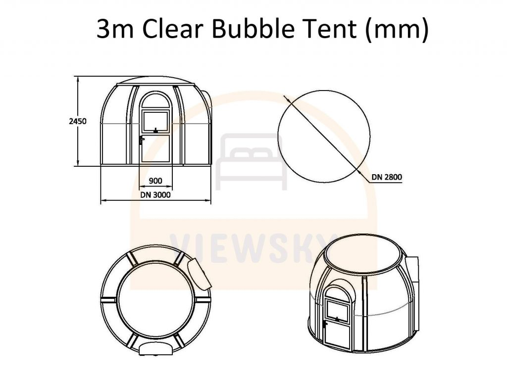 UVPLASTIC Klares Bubble Zelt