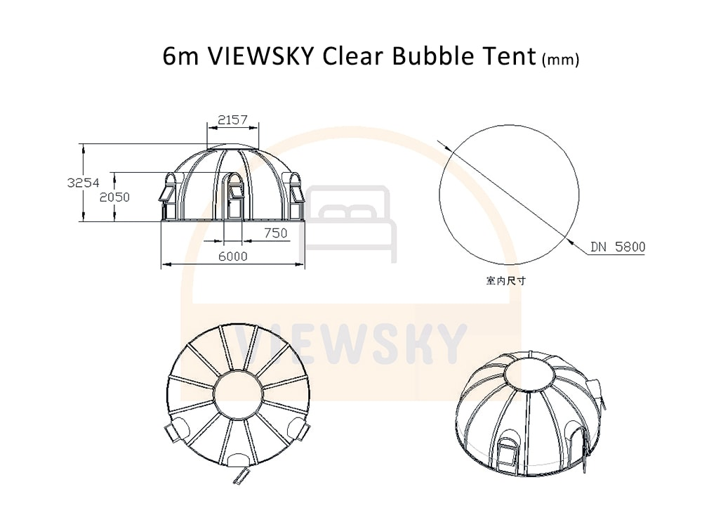 Klar Bubble Zelt
