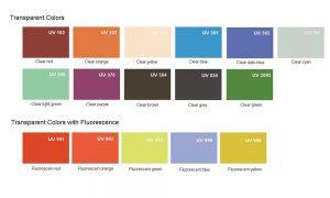 Transparent colors acrylic sheet