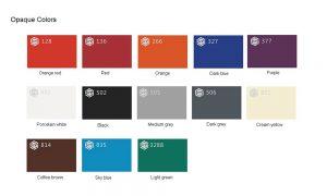 Opaque colors Acrylic sheet