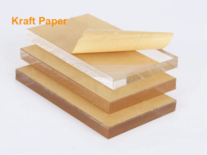 Acrylglasplatte mit Kraftpapier