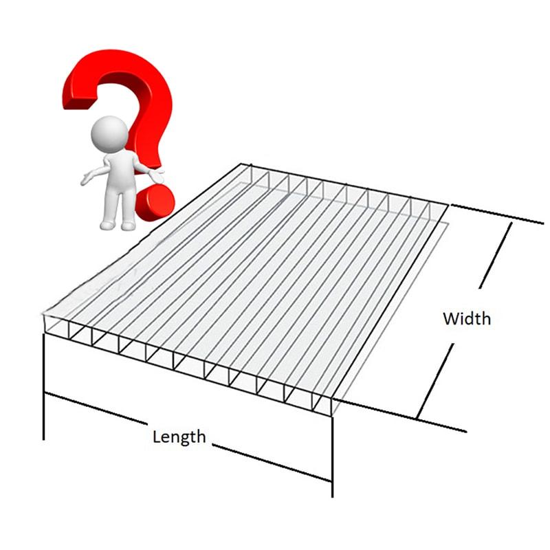 Polycarbonat Stegplatten Größe