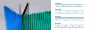 Multiwall Polycarbonate sheet profile