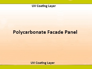 UV Coating Polycarbonate Facade panel