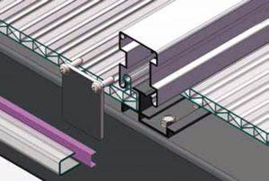 U lock polycarbonate roofing Panel