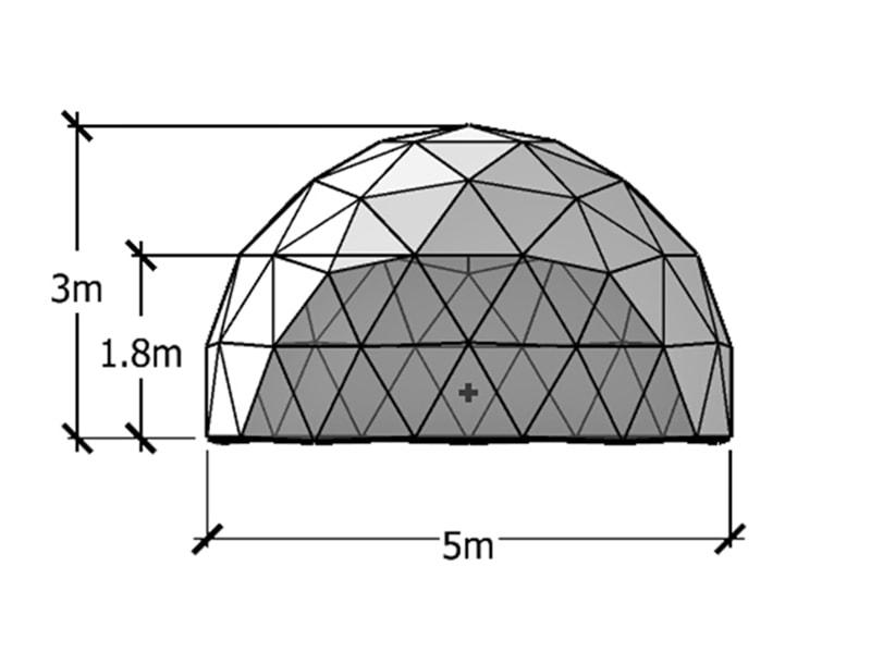 5 m Geodätische Kuppel