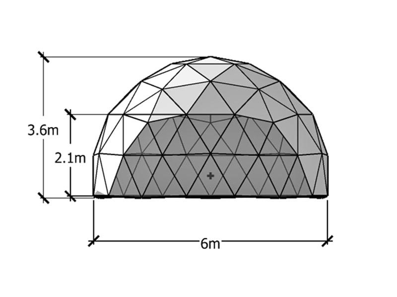 6 m Geodätische Kuppel