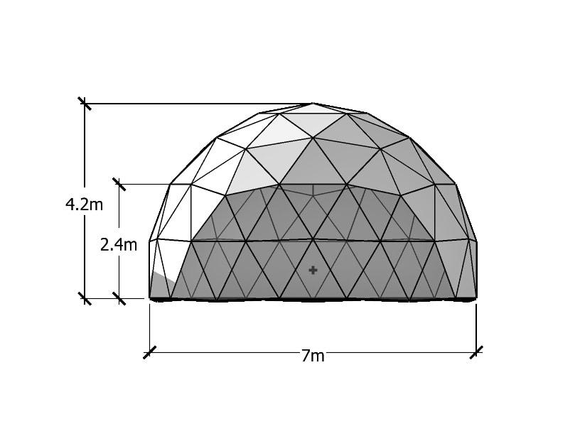 7 m Geodätische Kuppel