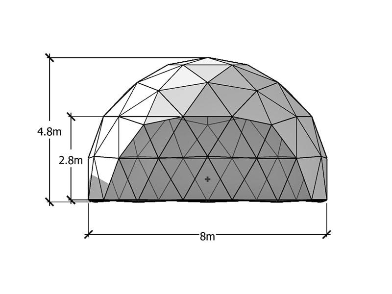 8 m Geodätische Kuppel