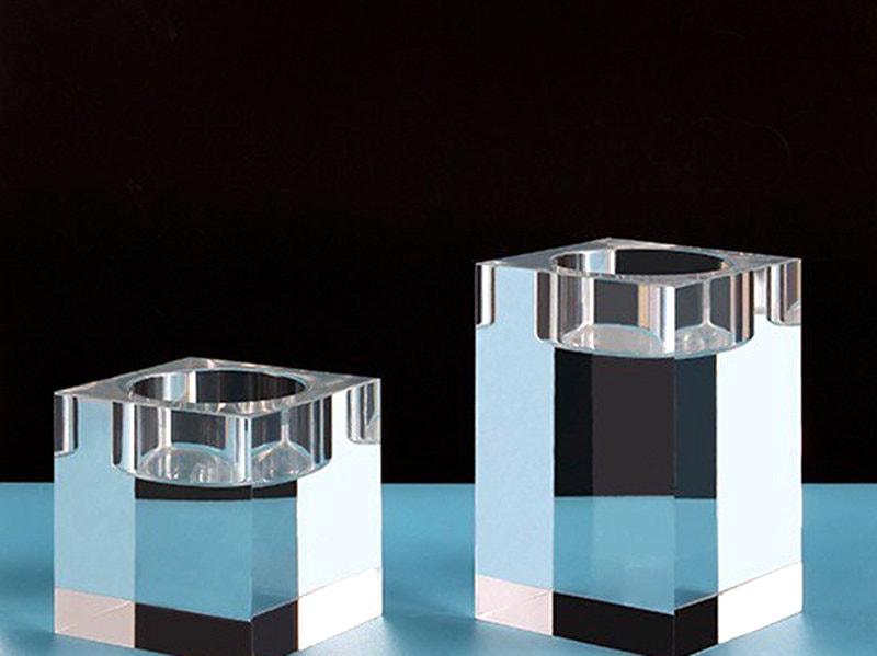 Klares quadratisches Acrylglas-Teil