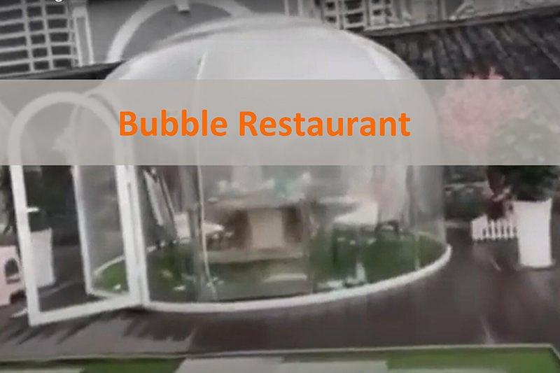 Bubble Kuppel Esszimmer