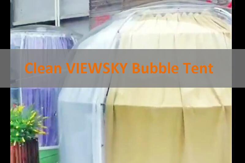 Klares Bubble Zelt