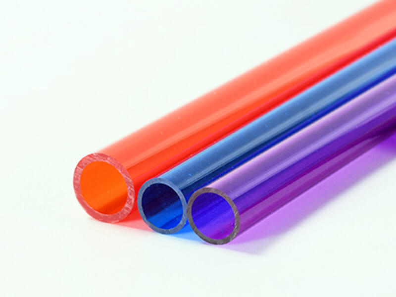 Farbige Acrylglas Rohre
