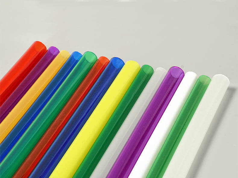 Farbige PMMA Rohre