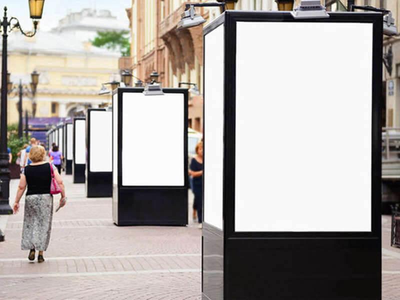 Kunststoff-Diffusor für Werbetafel
