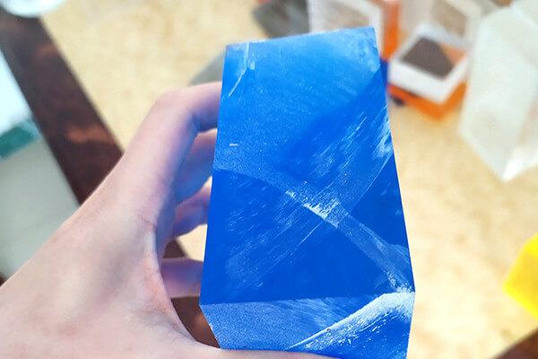 Blaue Acrylblock
