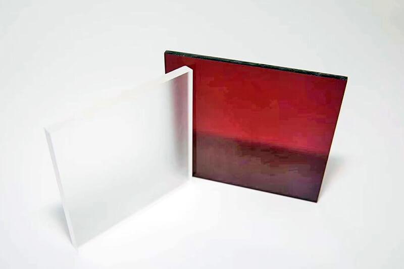 PMMA Platten farbig