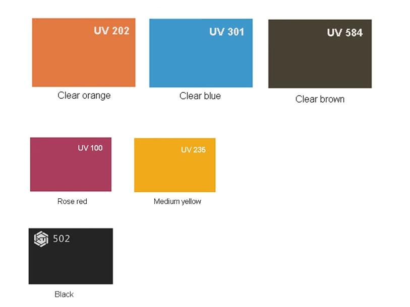 Farben von ESD Acrylplatten