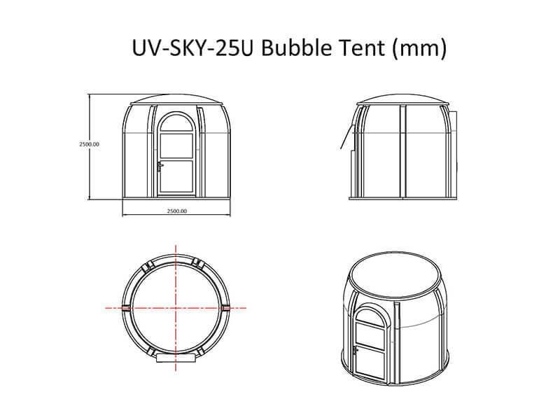 UV-SKY-25U Bubble Zelt